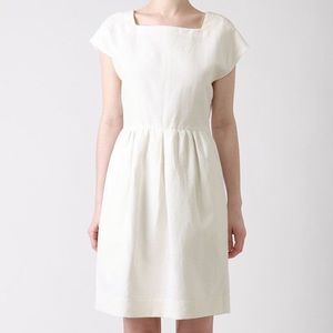 Steven Alan Fairchild silk linen dress in cream
